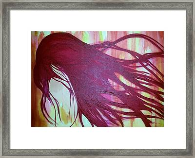 Hidden Pain  Framed Print by Faria  Ehsan