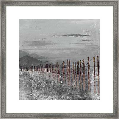 Hidden Pier (dark Gray) Framed Print