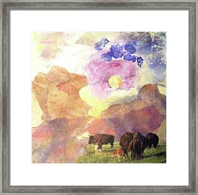 Hidden Plateau Framed Print by MtnWoman Silver