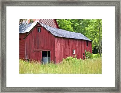 Hidden Rustic Barn  Framed Print by David Letts