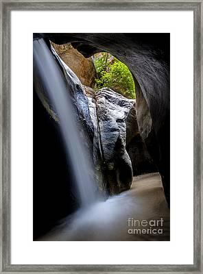 Hidden Splendor Framed Print by Bob Christopher