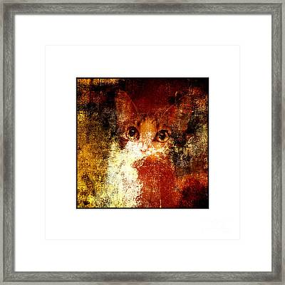Hidden Square White Frame Framed Print by Andee Design