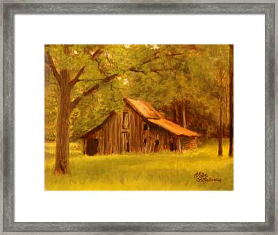 Framed Print featuring the painting Hidden Treasure by Rick Fitzsimons