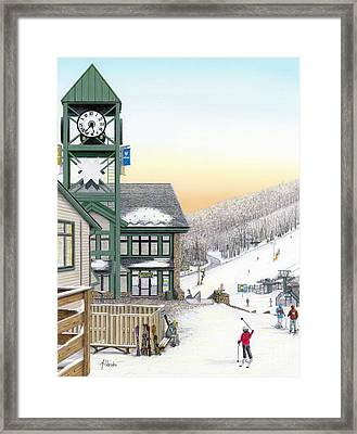 Hidden Valley Ski Resort Framed Print by Albert Puskaric