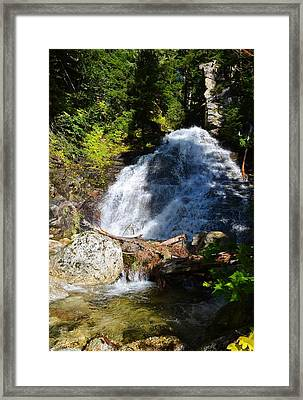 Hidden Waterfall 4 Framed Print by Randy Giesbrecht