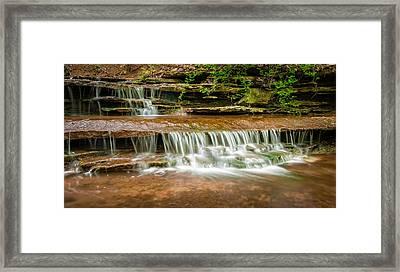 Hidden Waterfall Framed Print by Jen Morrison