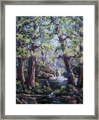Framed Print featuring the painting Hidden Waters by Megan Walsh