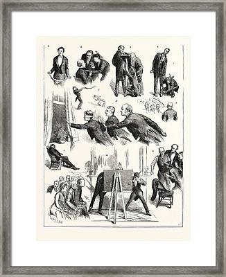 Hide And Seek At Westminster London Thought-reading By Mr Framed Print