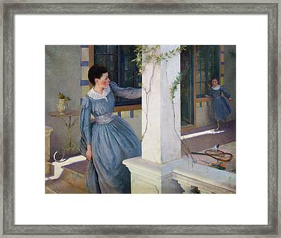 Hide And Seek Framed Print by Paul Edouard Rosset Granger