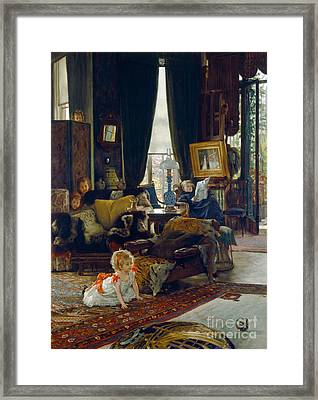 Hide And Seek Framed Print by Tissot