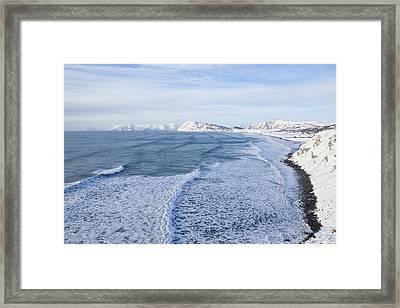 Hide Tide On Fossil Beach Framed Print