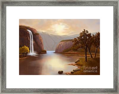 Hideaway In The Mountains Framed Print