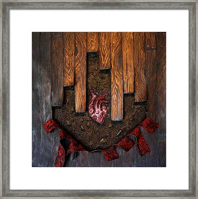 Hideous Heart Framed Print by Philly Alex Johnmeyer