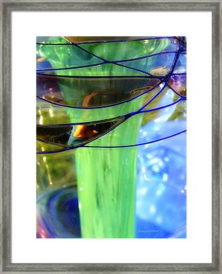 Hiding Behind The Glass Framed Print by Donna Blackhall