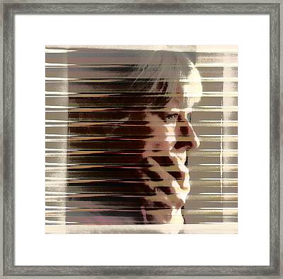 Hiding Framed Print by Gun Legler