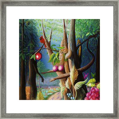 Framed Print featuring the painting Hiding In The Garden. by Gene Gregory
