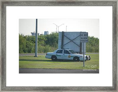 Hiding Framed Print by Mark McReynolds
