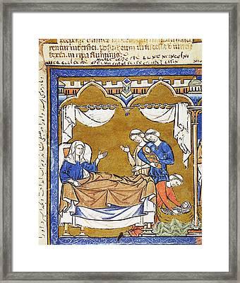 Hiding Of Infant Moses Framed Print by Granger