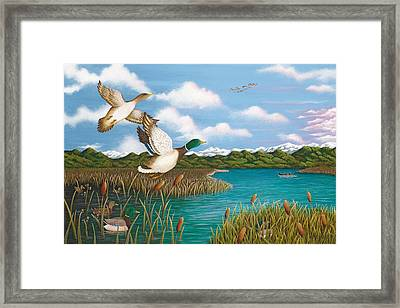 Hiding Out Framed Print by Katherine Young-Beck