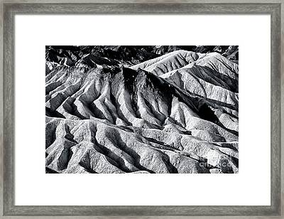 Hiding Places At Death Valley Framed Print by John Rizzuto