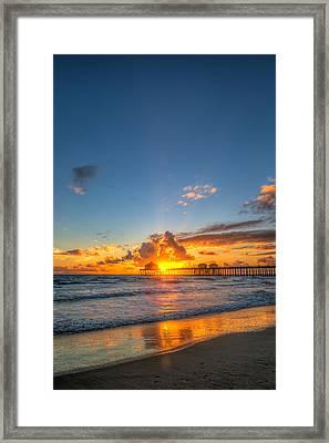 Hiding Sunset Framed Print