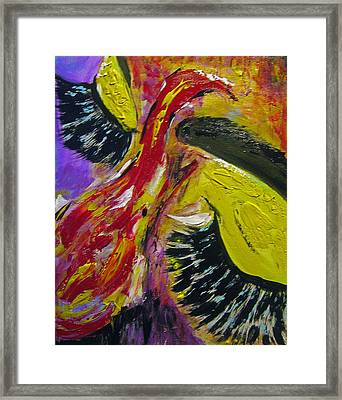 Framed Print featuring the painting Hier Au Cirque by Lucy Matta