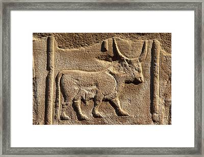 Hieroglyphic Writing Framed Print by Prisma Archivo