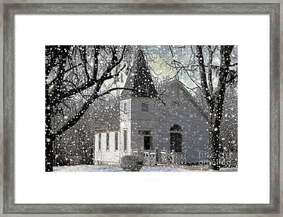 Higgensville Church Framed Print by Liane Wright