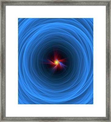 Higgs Field And Boson Particle Artwork Framed Print by David Parker