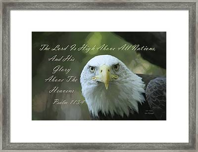 High Above All Nations Framed Print by Steve and Sharon Smith