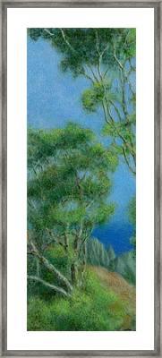 High Above Na Pali 2 Framed Print by Kenneth Grzesik