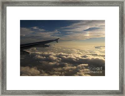 Framed Print featuring the photograph High Above The Clouds by Inge Riis McDonald