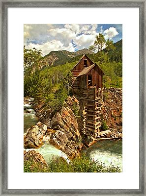 High Above The Crystal River Framed Print by Adam Jewell