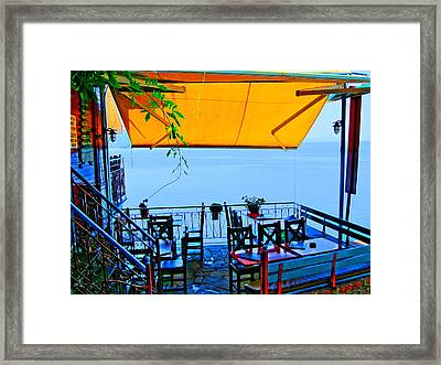 Framed Print featuring the photograph High Above The Sea by Andreas Thust