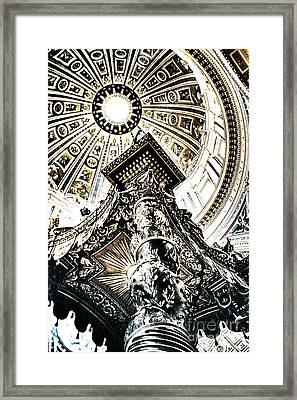 High Altar And Dome Framed Print by Kim Lessel