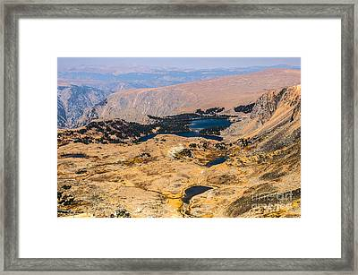 High Altitude Lakes Framed Print by Sue Smith
