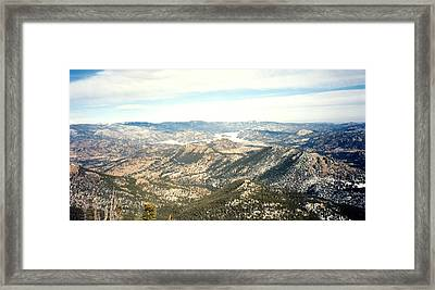 High Altitude View Framed Print