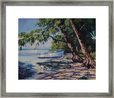 High And Dry Framed Print by John Clark