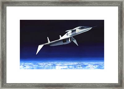 High And Fast Framed Print