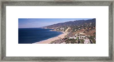 High Angle View Of A Beach, Highway Framed Print by Panoramic Images