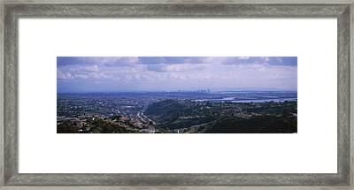 High Angle View Of A Bridge, Coronado Framed Print