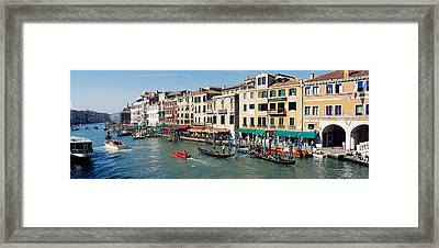 High Angle View Of A Canal, Grand Framed Print by Panoramic Images