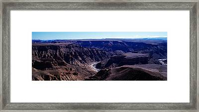 High Angle View Of A Canyon, Fish River Framed Print