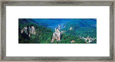 High Angle View Of A Castle Framed Print