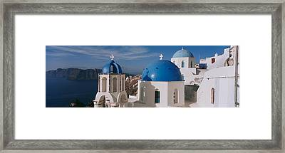 High Angle View Of A Church, Church Of Framed Print
