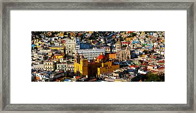 High Angle View Of A City, Basilica Framed Print by Panoramic Images