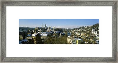 High Angle View Of A City, Berne Framed Print