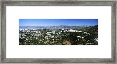 High Angle View Of A City, Burbank, San Framed Print