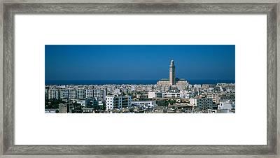 High Angle View Of A City, Casablanca Framed Print