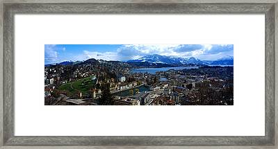 High Angle View Of A City, Chateau Framed Print by Panoramic Images